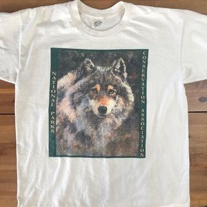 Vintage National Parks Wolf Single Stitch Shirt XL
